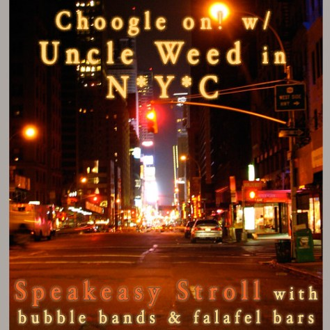 NYC Speakeasy Stroll with Bubble Bands and Falafel Bars – Choogle On! #45
