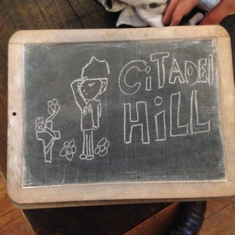 Citadel: communication by chalkboard is handy and reusable