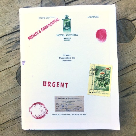 Items: Forgotten in Drawers, Vol. 1 – chapbook 7