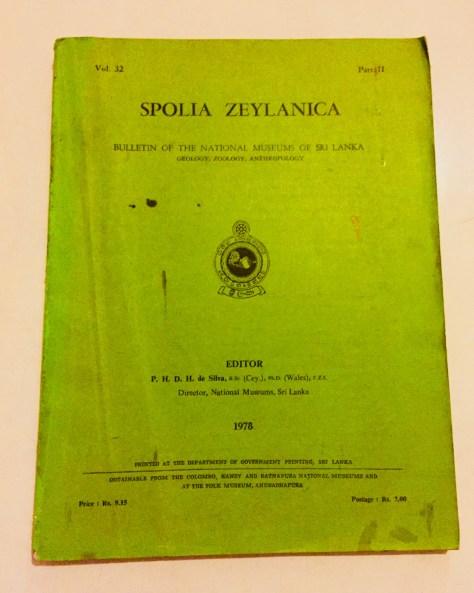Spolia Zeylancia –Sri Lanka Books & Ledgers