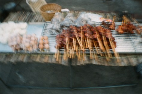 Scenes of Life in Phitsanulok: meat, grilled