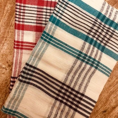 Items: household, dish cloths (red / blue / grey / white) - also handy for painting clean-up