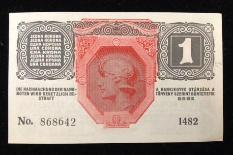 Austrian-Hungarian: 1 Krone (1916) (back)