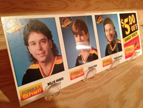 Canucks hockey cards and coupon