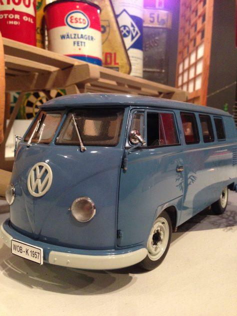 VW bus (blue) model