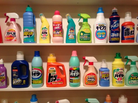 Variety of cleaning products from Japan