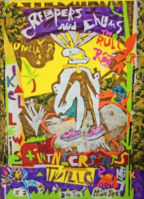 Creeper & Chums - memorial party commemorative posters (mixed-media, Marty Kendall)