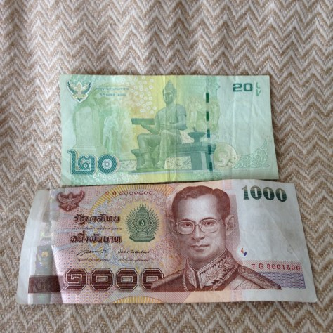 Thailand: Bhat (20 back, 1000 front)
