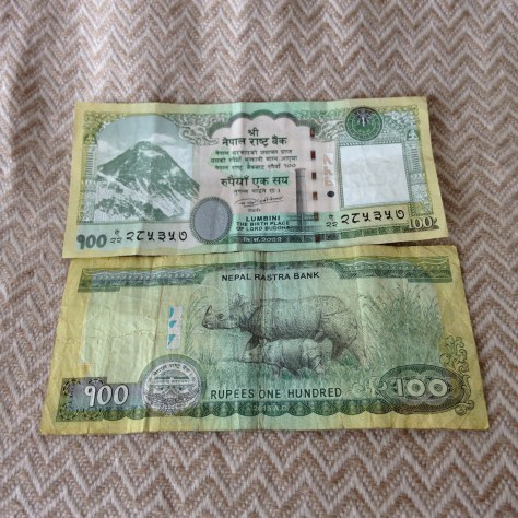 Nepal: Rupee (100, front/back)