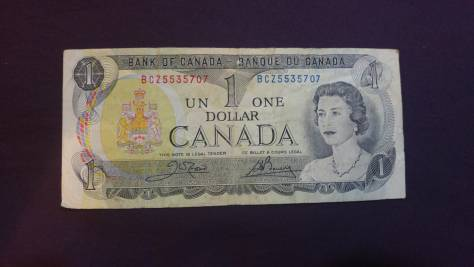 Canada: 1 Dollar (featuring Queen Elizabeth 2 of UK) thanks to Pvt. Ben Rees CF