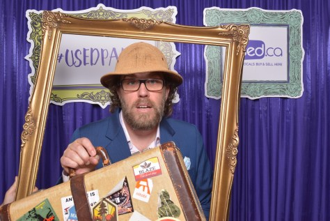 Photo booth fun: bags packed, on a safari to find you