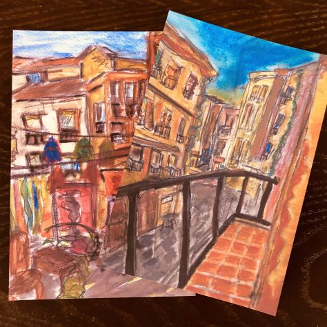 Art Postcards (Spain alleys series x2)