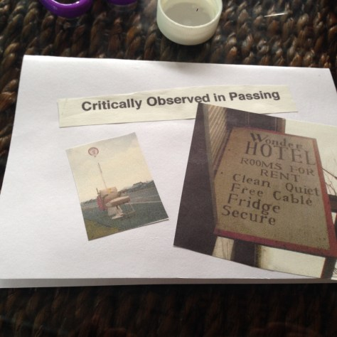 Greetz from Elsewhere: Critically observed in passing + Wonder Hotel