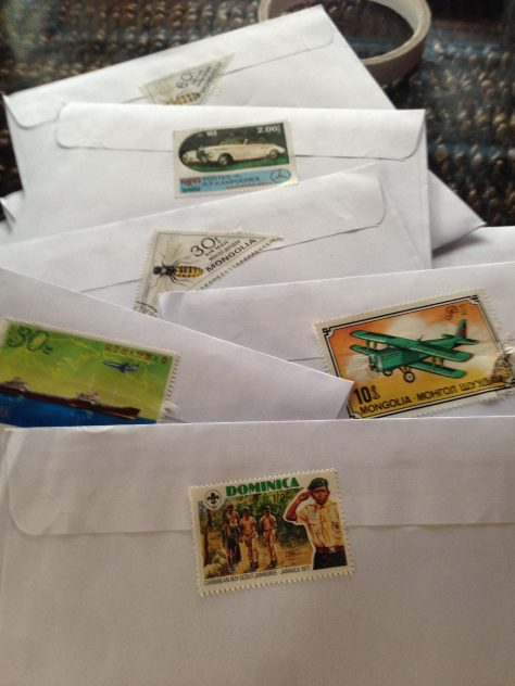 Greetz from Elsewhere: stamps from various places (decorative, rather than functional in this case)