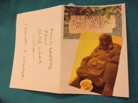 Greetz from Elsewhere: be like Buddha (Please Don't Steal My Stuff)