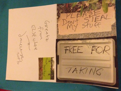 Greetz from Elsewhere: Please Don't Steal My Stuff vs Free For the Taking (find your balance)