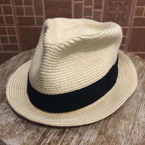 Hats: straw, fedora-esque