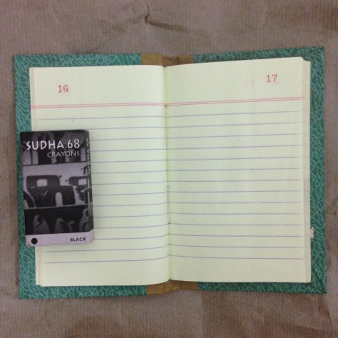 Notebook (lined, interior page): India, Items Assembled
