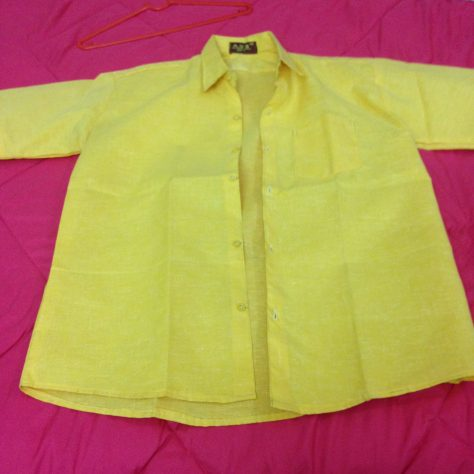Shirt, yellow: India, Items Assembled
