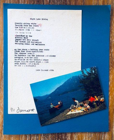 Night Lake Diving (postcard) –Items: Forgotten in Drawers (vol. 4)