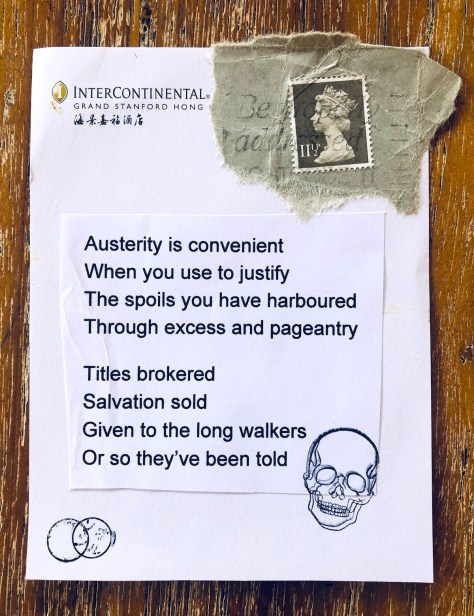 Austerity is Convenient – Items: Forgotten in Drawers (vol. 5, Hubris)
