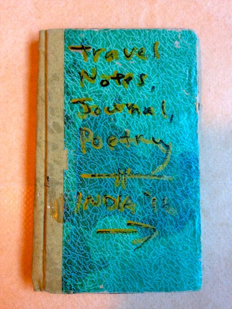 Journal: Kerala, India / poetry, musings, notes, 2015 (green with brown cover)