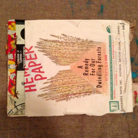 Scrapbook: circa 2015 / ephemera, notes, musings (Hemp paper, cover)