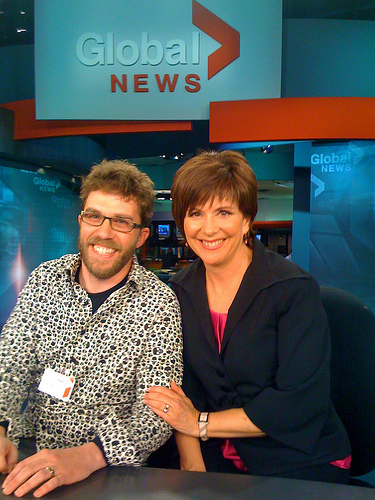 Dave and nice lady from Global TV Evening News