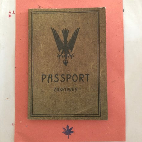 "Zubowka Passport as referenced from Wes Anderson's ""The Grand Budapest Hotel"" movie"