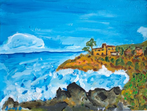 Cove Near Almeria (Spain) / acrylic