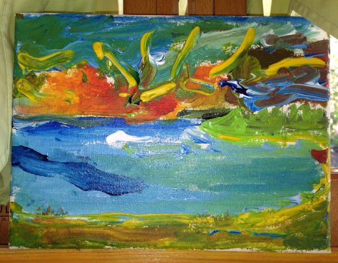 paint-elsewhere-Sunset, Little Bay (Jamaica) acrylic