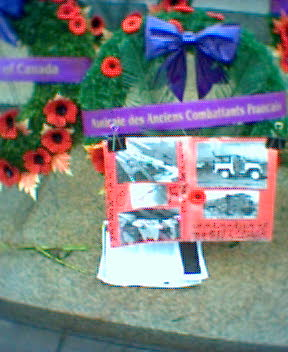 Victory Square Vancouver Cenotaph Wreaths
