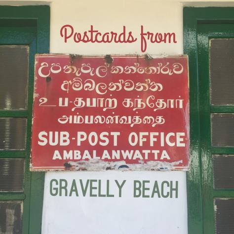 Postcards from Gravelly Beach - Sri Lanka Sub Post Office