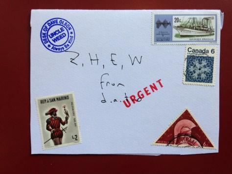 Pictogram (evidentally lost in dead letter space) to Z, H, E, W in Boise, Idaho