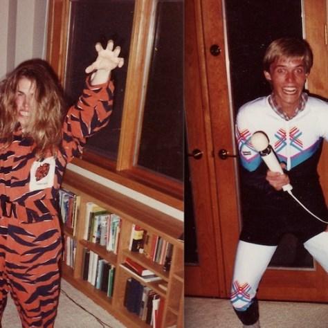 Tiger man versus Lycra boy: daveo disguised
