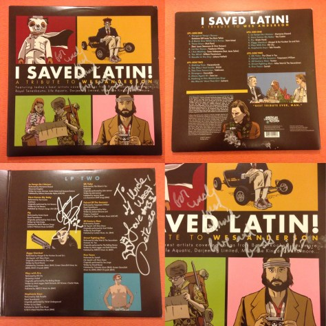 "4-up view of I Saved Latin"" from American Laundromat Records"