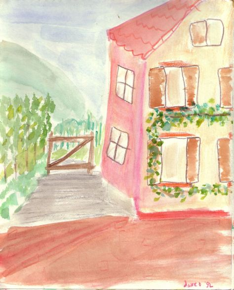 Weingut 8x10 watercolour pencil (Rhodt, Germany)