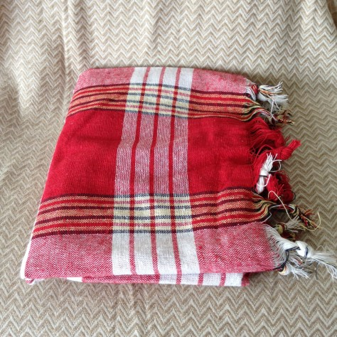 Turkey: red plaid towel