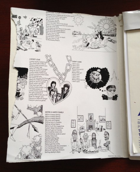 Scrapbook: assembly / Ramones (inside front cover)