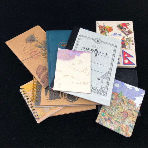 supply of journals, notebooks, scrapbooks etc. awaiting their call to duty