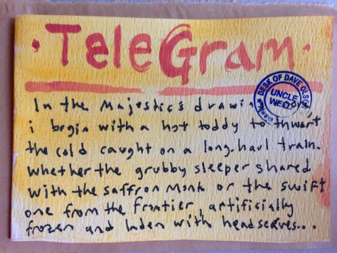 Telegrams from the Majestic Hotel: 2 (majestic hot toddy)