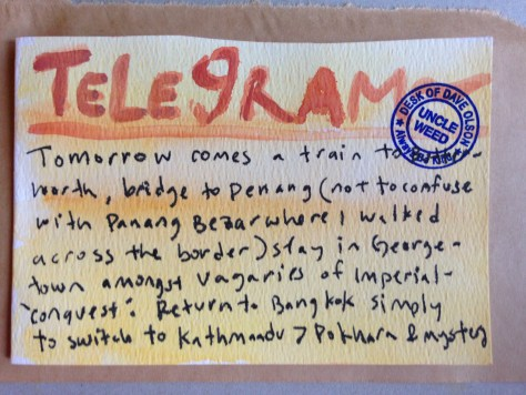Telegrams from the Majestic Hotel: 6 (comes a train)