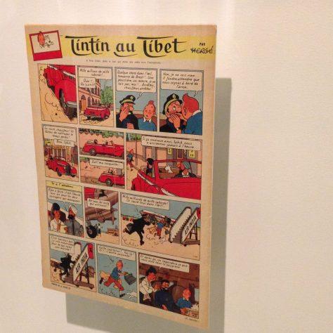 Original printing of Tintin in Tibet (my favourite) –Hergé / Tintin artifacts in Québec City