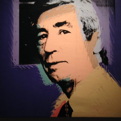 "Hegré ""pop art"" portrait (self?) from Exhibit: Hergé / Tintin artifacts in Québec City"
