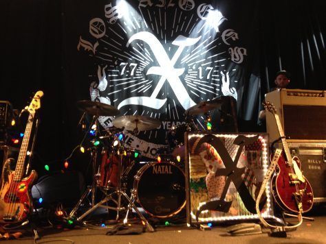 Stage set-up / X 40th anniversary tour/show at The Independent in San Francisco