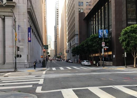 Photos of FiDi during rush hour