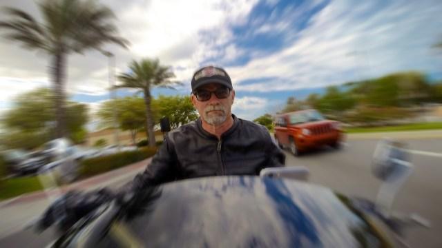 "Riding ""Bertha"" in Daytona Beach Florida."
