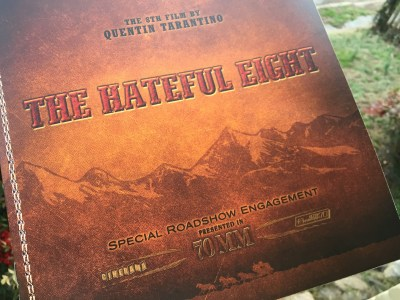 Cover of the Hateful Eight 70mm Road Show program.