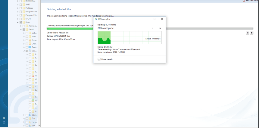Auslogic Duplicate File Finder Interface