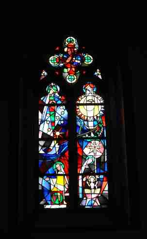 St. Stephens in Mainz. Glass by Marc Chagall.